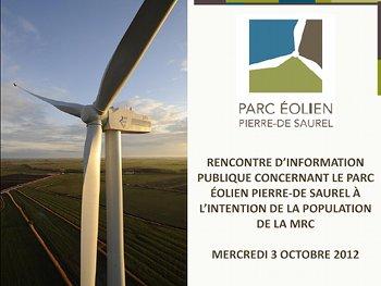 Document de présentation: Rencontre d'information publique, 3 octobre 2012